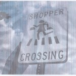 Shopper crossing sign, A4, 240x144, color, cropped